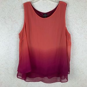 Worthington ombré sleeveless top